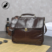 ETONWEAG New 2016 men famous brands cow leather preppy style laptop shoulder bags brown lock luxury messenger bags