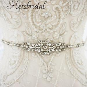 Image 2 - Жемчуг и стразы свадебные пояса серебро пояса свадебное платье с поясом