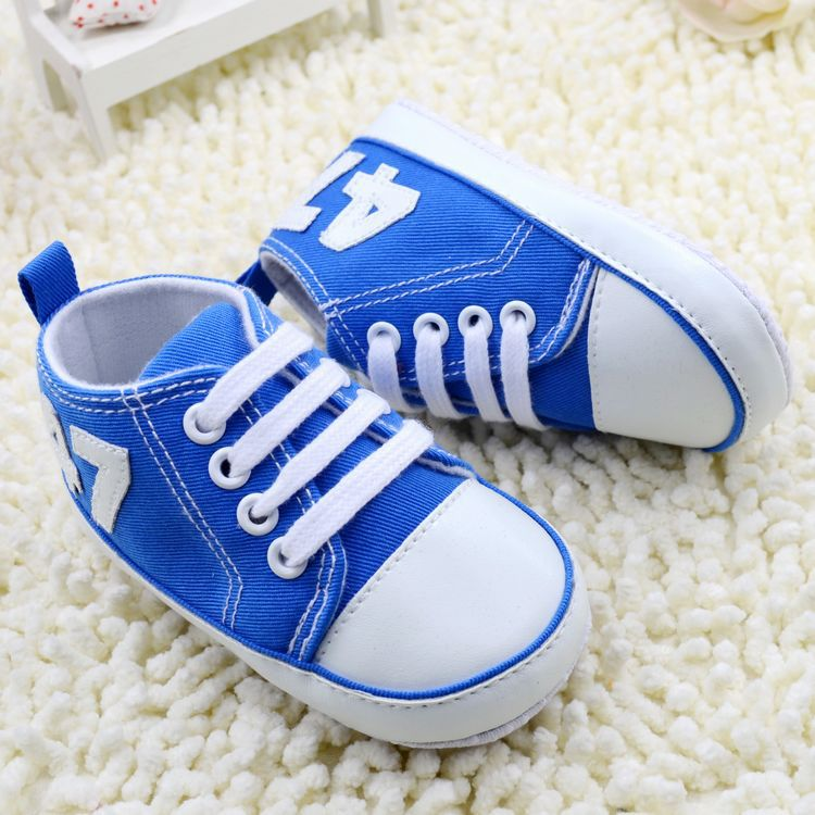 Fashion Canvas Baby Shoes Toddler Boy Girls Shoes Lace-Up Infant Newborn Crib Shoes First Walker No-Slip Childre's Sneaker