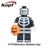 20Pcs Super Heroes Series 14 Monstruos Figures Chixo Esqueleto Skeleton Guy Building Blocks Bricks Best Children Gift Toys KF200
