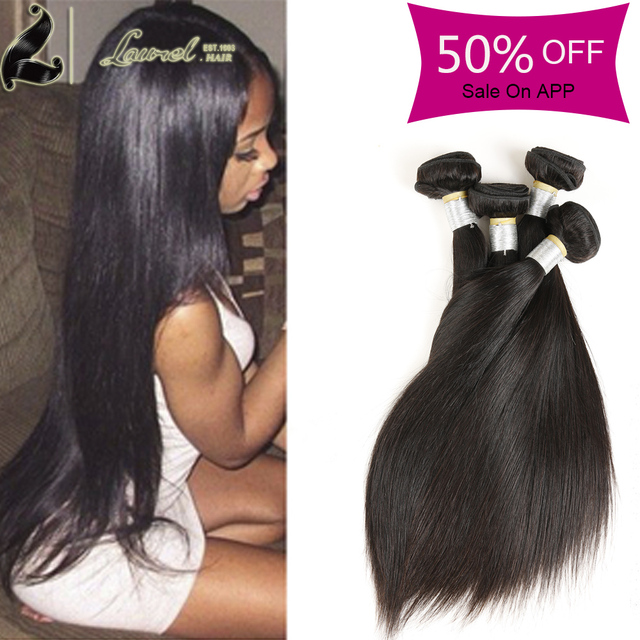 Thick 4 Bundle Straight Weave Hair Laure Hair Extension Malaysian