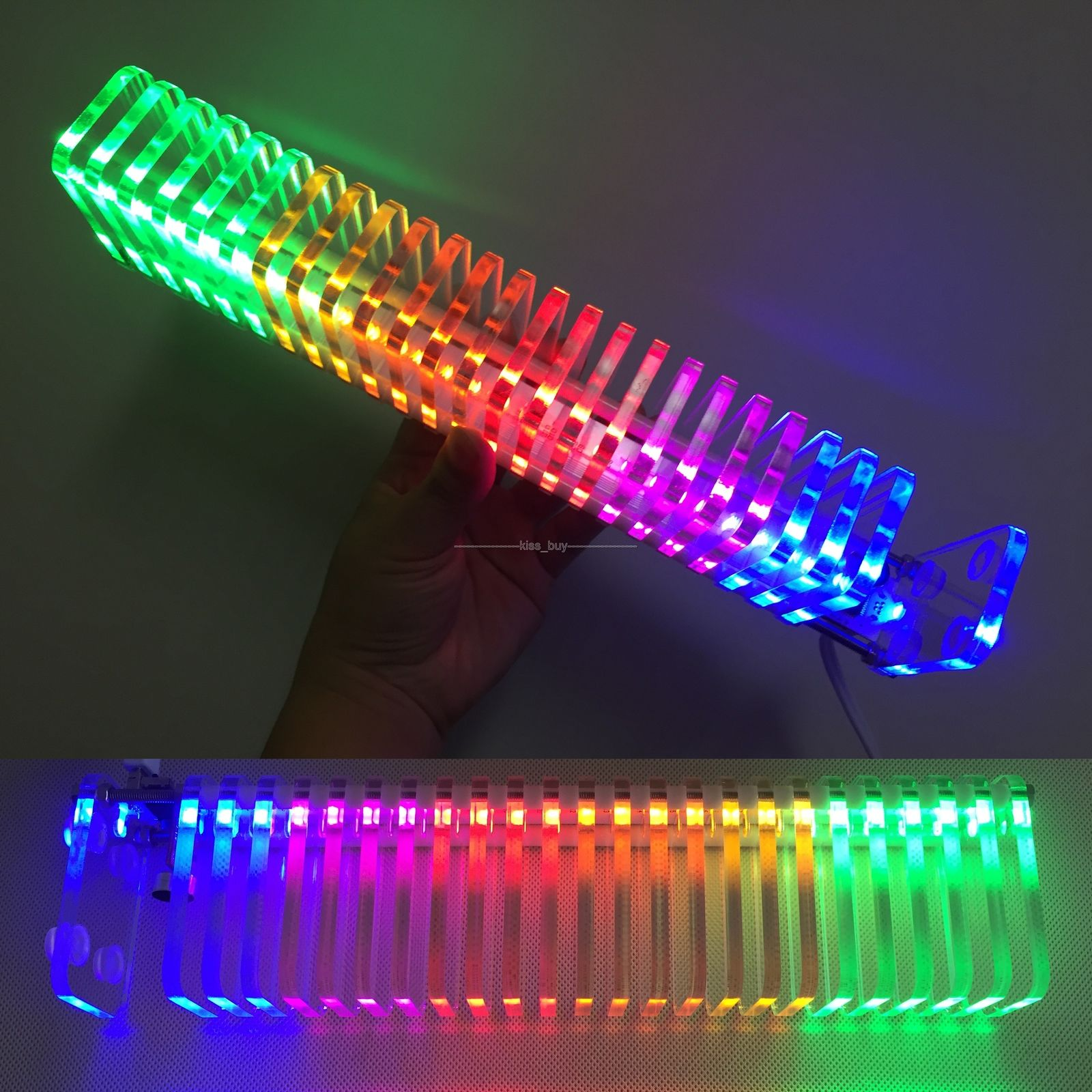 DIY KITS KS25 Voice control Fantasy Crystal light cube LED level display music spectrum rhythm display