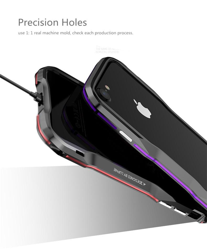 iPhone X 7 8 Plus Luphie Metal Bumper Aluminum Case (10)