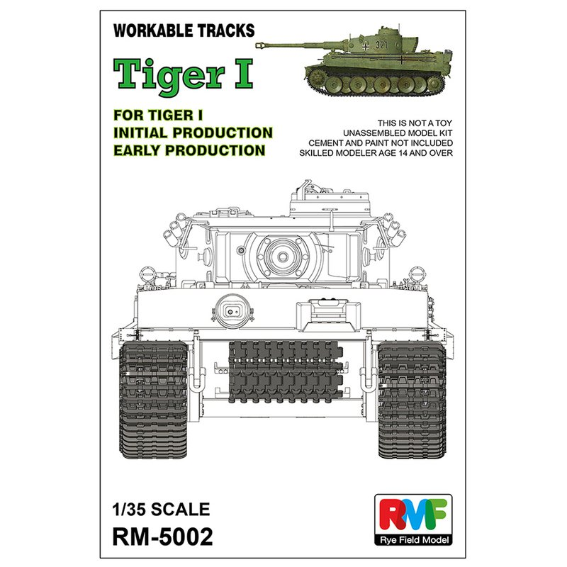 Rye Field Model RFM RM-5002 1/35 Workable Track For Tiger I Early Production - Scale Model Kit