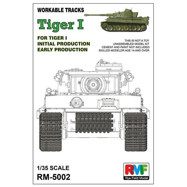 Roggen Feld Modell RFM RM 5002 1/35 Praktikabel track für Tiger I frühe produktion Skala modell Kit
