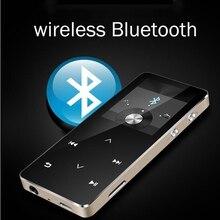 MP3 נגן עם bluetooth מגע מסך hi fi fm רדיו מיני USB mp3 ספורט MP 3 HiFi מוסיקה נגן נייד מתכת ווקמן
