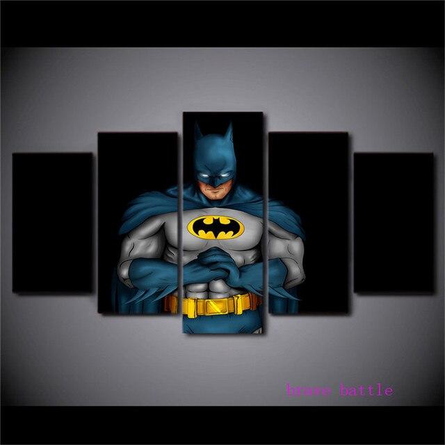 Batman Truyện Tranh Công Lý Giải Đấu 5 Cái Canvas Vẽ Tranh In Living Room Trang Trí Nội Thất Tường Modern Art Oil Painting