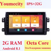 Youmecity Android 8.1 Car DVD for Suzuki SX4 2007 2012 Years 2 DIN 3G/4G GPS radio video Multimedia player Capacitive IPS Screen