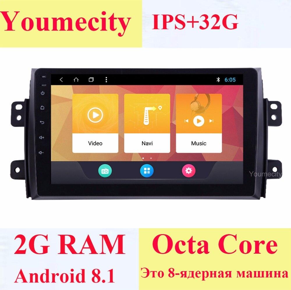 Youmecity Android 8.1 Car DVD per Suzuki SX4 2007-2012 Anni 2 DIN 3g/4g GPS radio video lettore Multimediale Schermo Capacitivo IPS