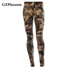 New Sexy Workout Leggings Women High Waist Casual Stretch Printed Fitness Leggings Running Sport Army Camouflage push up Pants