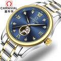 Роскошные фирменные швейцарские карнавальные мужские часы с бриллиантами  автоматические часы с самозаводом  мужские сапфировые часы reloj ...