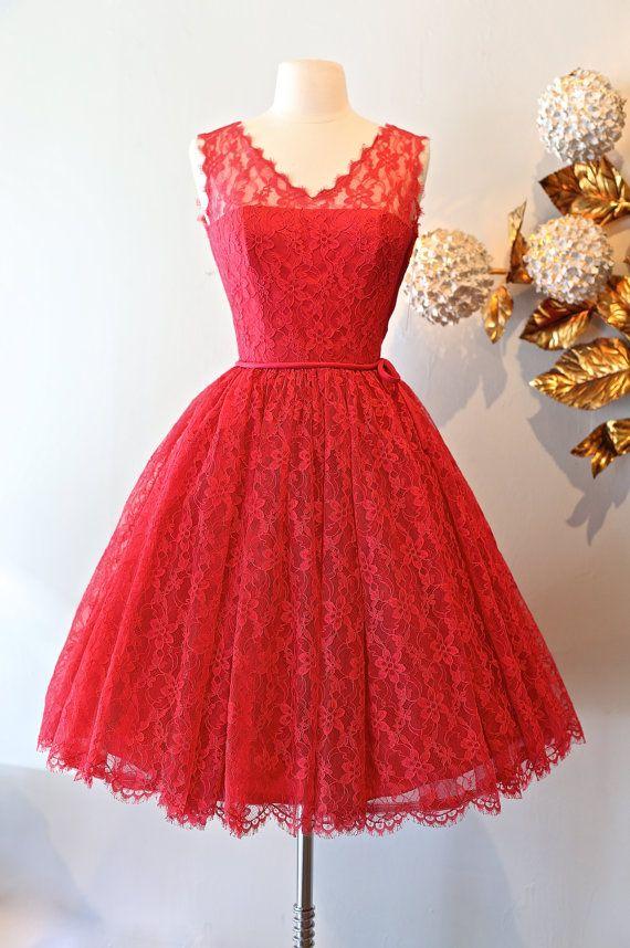Vintage Red Cocktail Dresses