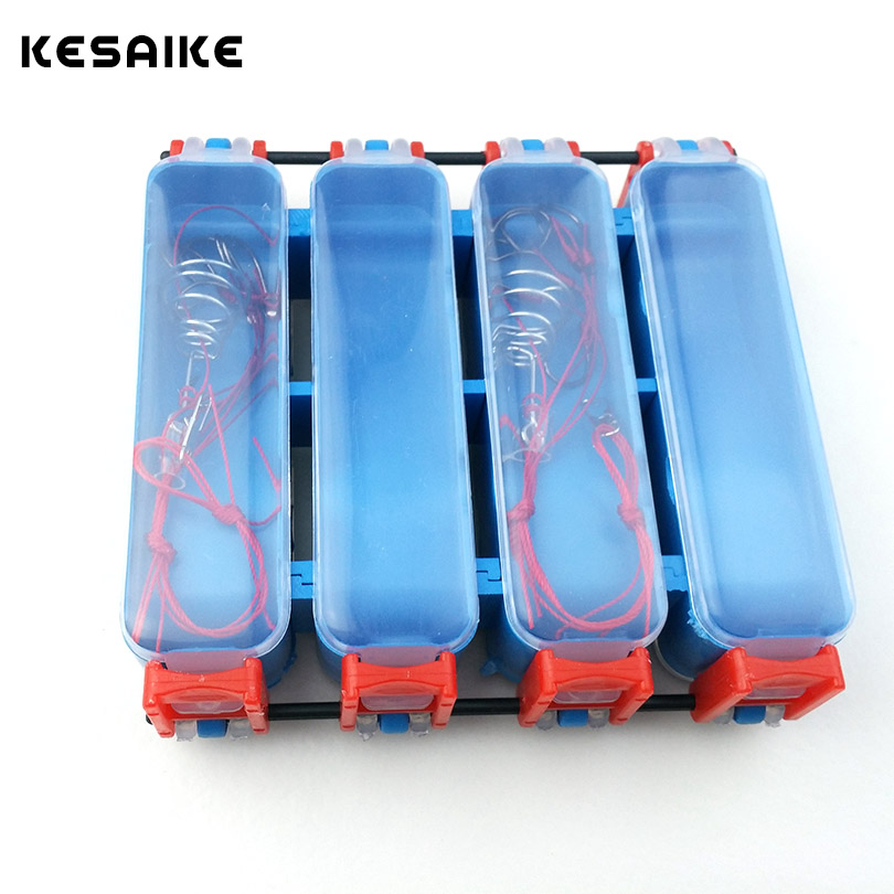 KESAIKE Double Sided Fishing Explosion Hook Box Large Fishing Hook Storage Boxes Pesca Fishing Accessories Tackle Box