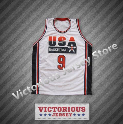 c3e1f338b67b23 Minanser Michael Jordan 9 National Team Basketball Jersey Men-in ...
