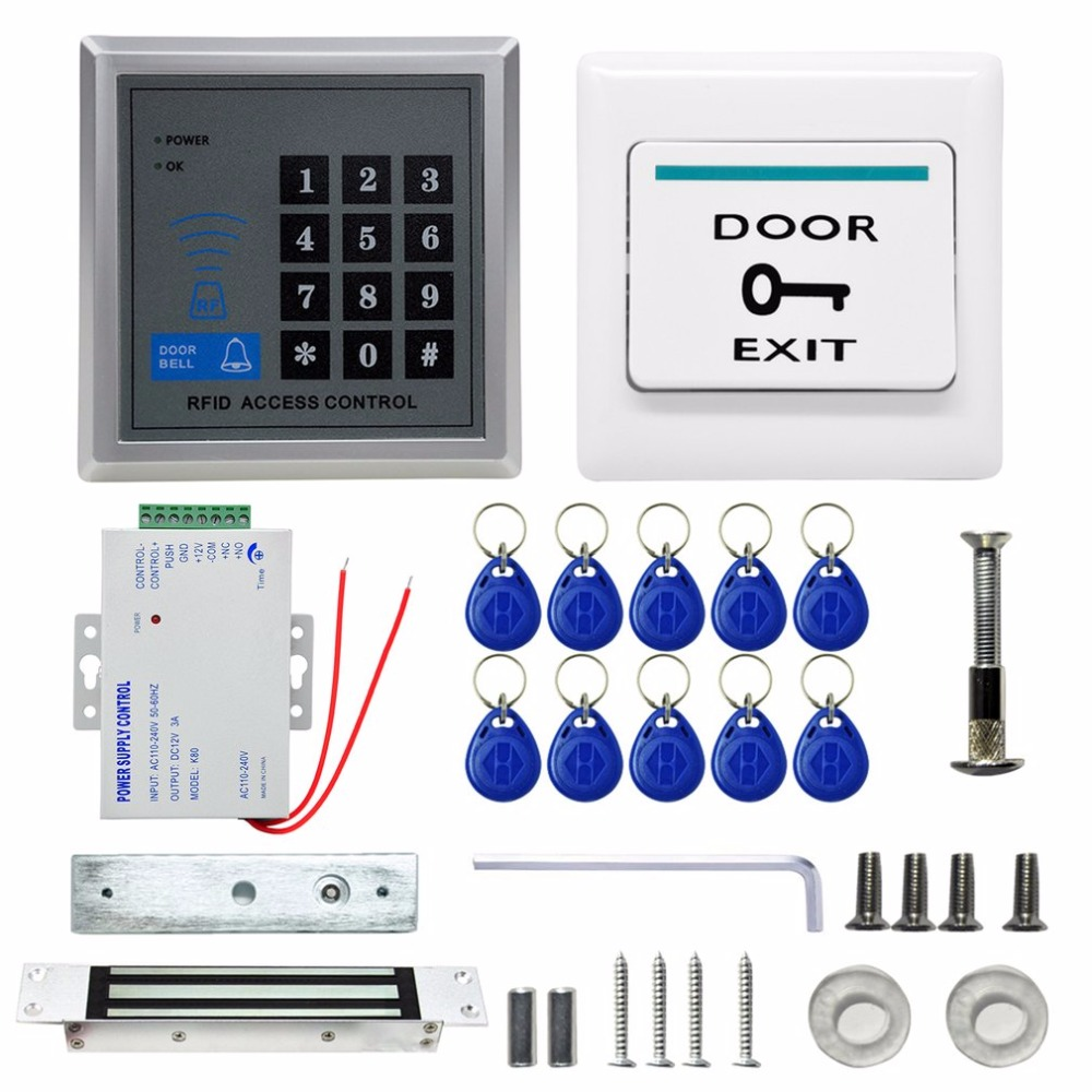 Direct Factory Electric Door Lock Magnetic Modern Access Control System ID Card Password Proximity Door Entry Keypad diysecur magnetic lock door lock 125khz rfid password keypad access control system security kit for home office