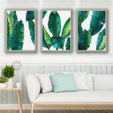 Nordic Posters and Prints Leafs Wall Art Canvas Painting Green Pictures Plant Living Room Framework Decoration Home