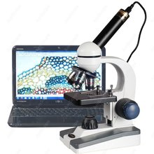 Science Student Microscope–AmScope Supplies 40X-1000X LED Coarse & Fine Focus Science Student Microscope + 1.3MP USB Camera