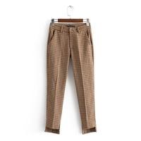 Young17 Women S Pants Asymmetric Patchwork Zipper Button Pocket Print Zipper Spring Fall Cotton Loose 2018