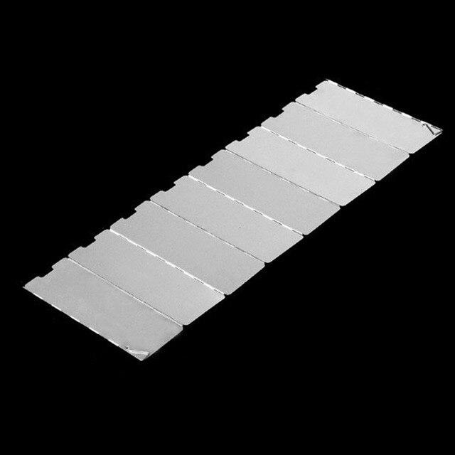 8 Panels Durable Foldable Aluminium Alloy Compact Camp Stove Windscreen free shipping