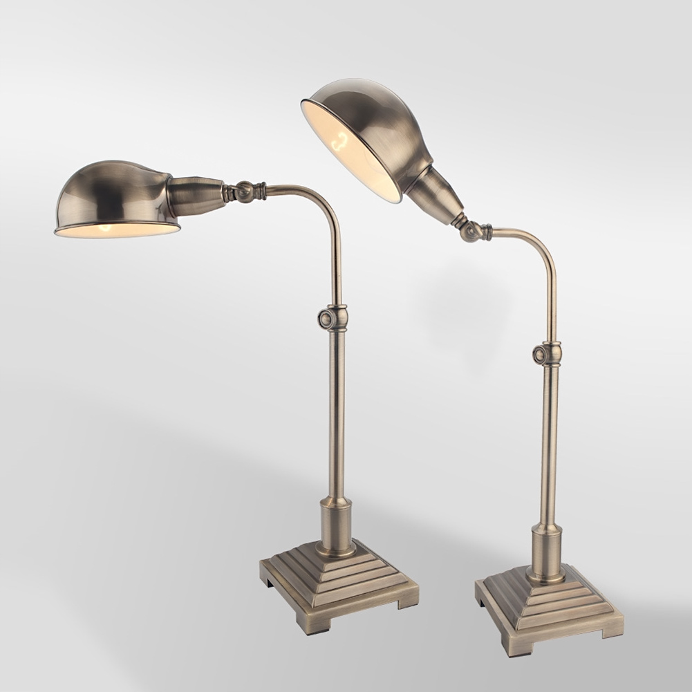 Table lamp adjustable - Vintage Iron Table Lamp With Lampshade Bulb Ac 90 260v Adjustable Table Lamp For Living
