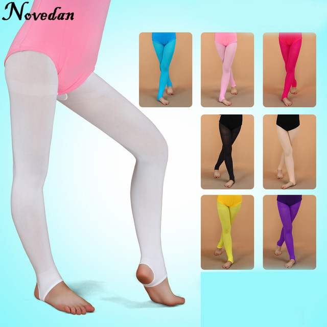 085420a559a87 Children Girls Ballet Dance Tights Convertible Pantyhose Tights Stockings  2017 Fitness Sport Dancing Pants Stirrup Tights