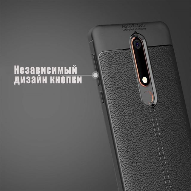 Coques pour Nokia 6.1 Plus/Nokia 6 2018 Coque souple en cuir Silicone souple TPU Coque arrière accessoire sur Nokia X6 coques Coque Fundas