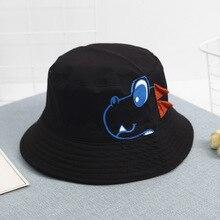 Cute 3D Dinosaur Bucket Hat Kids Outdoor Sports Hip Hop Cap Children animal Summer Cotton Fishing Sun Panama For Girls Hats