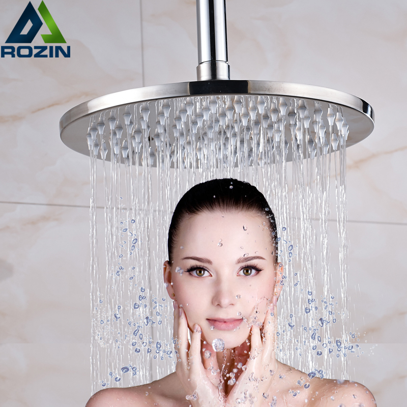 Chrome Brass Rainfall Shower Head Bathroom Wall/Ceiling Mounted Top Showerhead Faucet Accessory цены онлайн