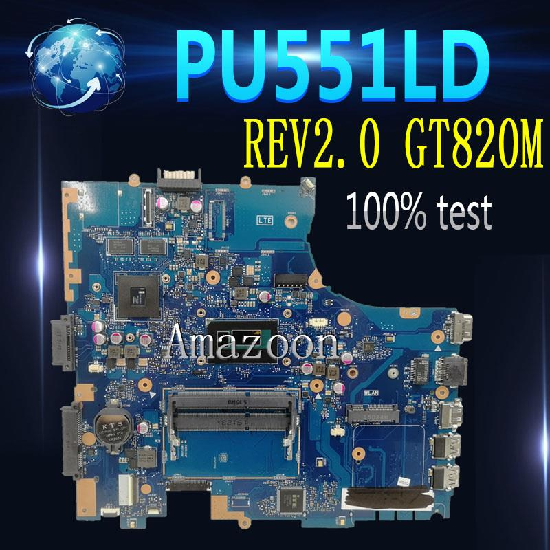 Amazoon  PU551LD Laptop motherboard For ASUS PRO551L PU551LD PU551LA PU551L P551L Mainboard test ok 2957U REV2.0 GT820M|Motherboards|Computer & Office - title=