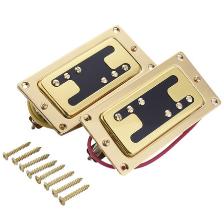Electric Guitar pickup Humbucker for 6-string 6 pieces Double Coil Pickups Set Neck Bridge Pickup Humbucker Double Coil vintage voice single coil pickups fits for stratocaster ceramic bobbin alnico single coil guitar pickup staggered pole top