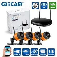 CDYCAM Plug & Play Home security Беспроводная Ip-камера комплект 960 P Открытый ИК День ночь Камера WI-FI 4-КАНАЛЬНЫЙ видеорегистратор Беспроводная NVR комплект