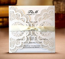 10 Pieces Vertical Laser Cutting Love Bird Invitation Card Set European Wedding Customizable Content Printing LOGO