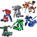 Transformación caliente 6 Coches Megatron Bumblebee Robots Figuras de Acción Juguetes Clásicos para niños Brinquedos juguetes para los regalos de Juguetes