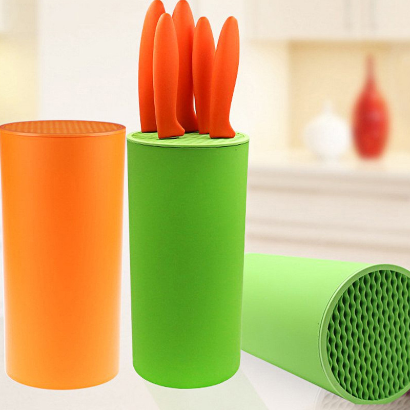 Tool Holder Multifunctional Plastic Tool Holder Knife Block Knife Stand Sook Tops Tube Shelf Chromophous Kitchen Creative Holder