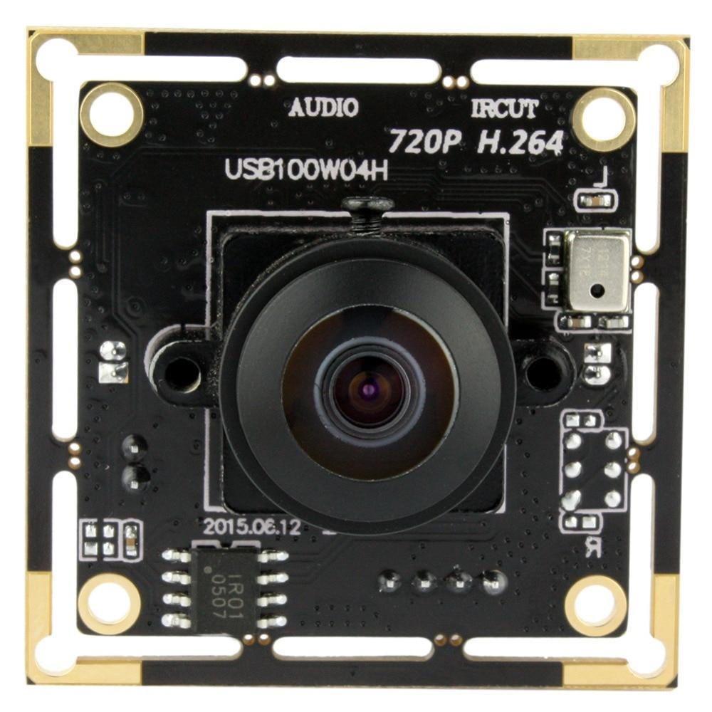 ELP 720p 1MP HD 30fps H 264 170 degree FOV wide angle CMOS Camera module Board