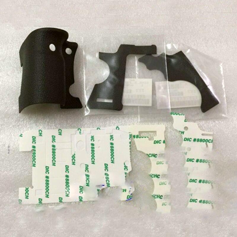 EIN Set von 3 stücke Neue original Bady gummi (Grip + linke seite + daumen) für Canon EOS 5D Mark II; 5D2 5DII DS126201 SLR (Mit Klebstoff)