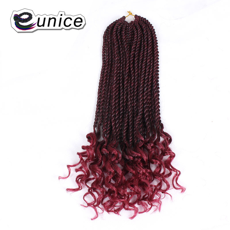 Eunice 24inch Stretched Easy Braiding Jumbo Braids Drown Layers 24inch Synthetic Ombre Kanekalon 100g/pack Blonde Crochet Hair Jumbo Braids