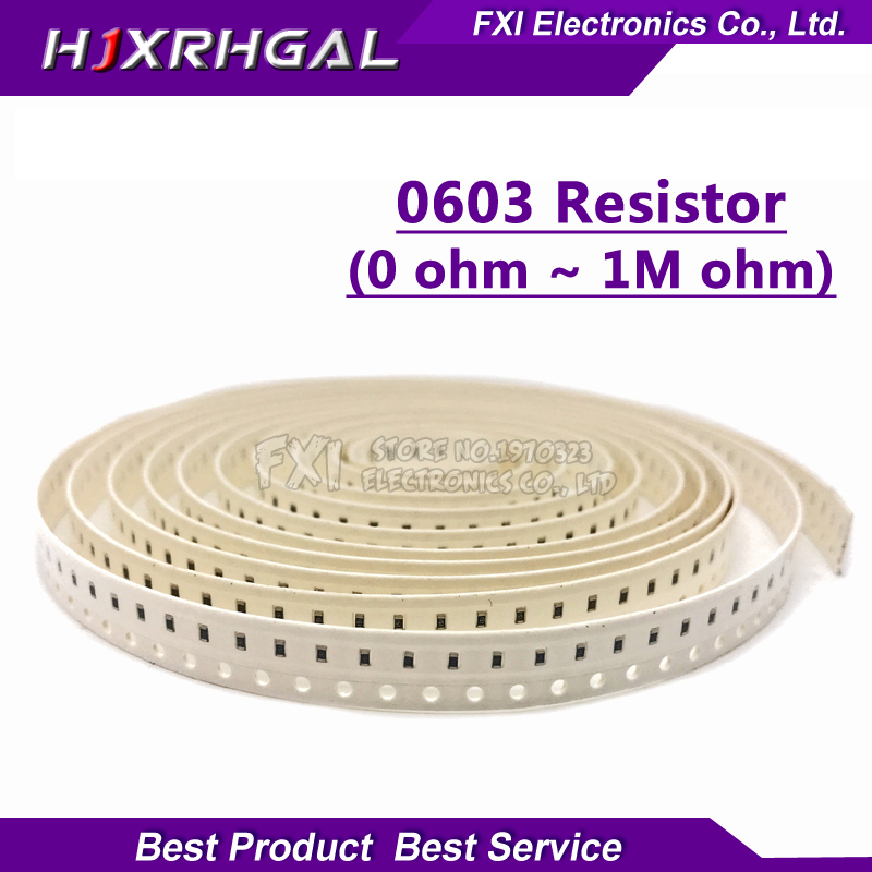 100pcs 0603 SMD 1/8W chip resistor resistors 0 ohm ~ 10M 0R 1K 4.7K 4K7 10K 100K 1 10 100 220 330 ohm 0R 1R 10R 100R 220R 330R100pcs 0603 SMD 1/8W chip resistor resistors 0 ohm ~ 10M 0R 1K 4.7K 4K7 10K 100K 1 10 100 220 330 ohm 0R 1R 10R 100R 220R 330R