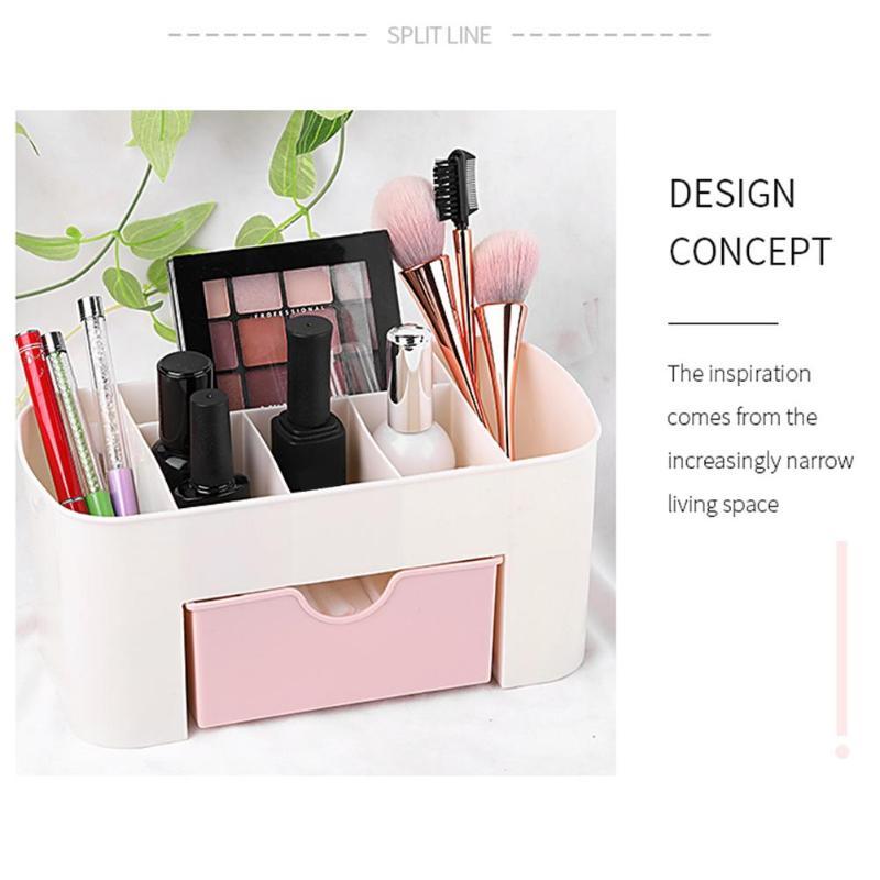 Cosmetic Storage Box Multi-function Cosmetic Storage Box Drawer Desktop Jewelry Nail Organizer