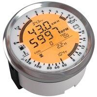 85MM DIGITAL GPS SPEEDOMETER TACHOMETER AND MULTIMETER 6 IN 1 FUNCTIONS (BLACK AND SILVER BEZEL)