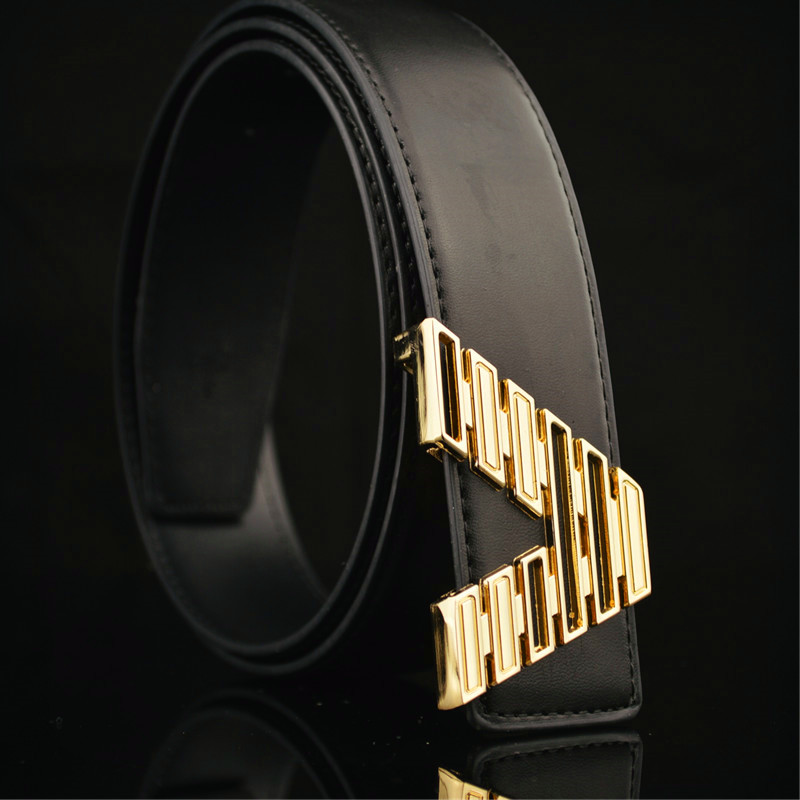 Belt For Men And Women Top Leather Brand Designer Casual Men Belts Black Stitches Luxury Male Belt With Golden Pin Buckle 125cm Back To Search Resultsapparel Accessories