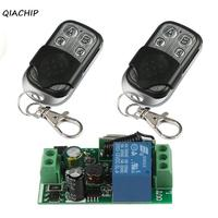 QIACHIP 433Mhz Wireless Remote Control Light Switch AC 110V 220V 1CH Relay Receiver Module And RF