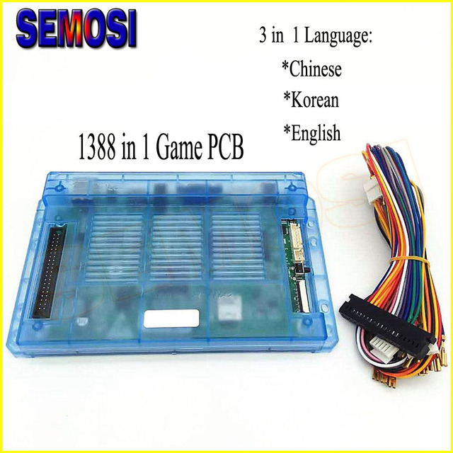1388 in 1 Game Box 6 PCB with Cables Pandora Arcade Cabinet with 3 ...