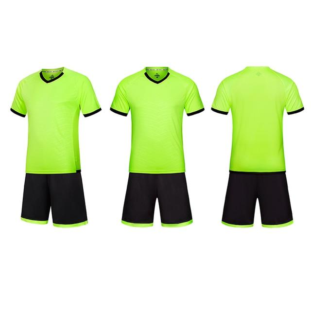 a5fbb229a Men Soccer Jerseys Set 2017 2018 Youth Maillot De Foot Survetement Football  Training Kids Football Kit Soccer Uniform (No sock)