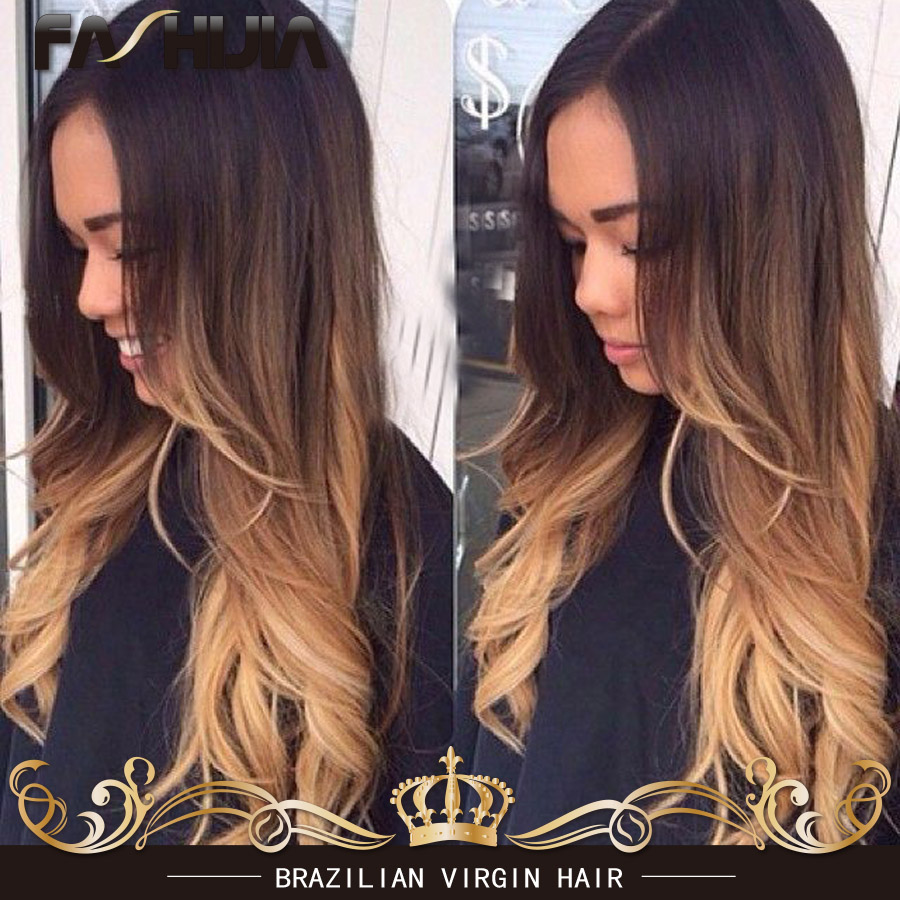 Black To Chocolate Brown Ombre Hair Extensions Remy Indian Hair