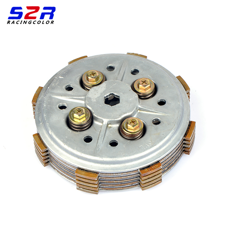 Complete Clutch Setup Drum Assy Basket ( 5 PCS) Friction Plates Kit Sit  Clutch Plates For YAMAHA YBR125 YB 125 XTZ125 TTR-125
