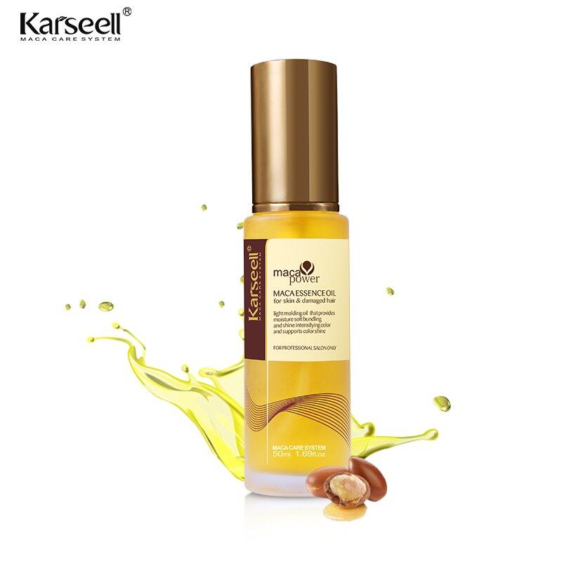 Argan Oil Moroccan Oil Care Shine Nutrition Keratin Treatment Nut Oil Repair Split Ends Karseell 50ml