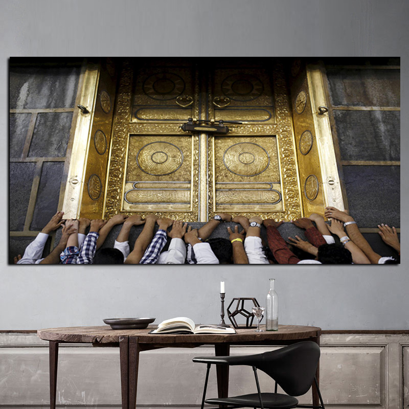 HD tisk Pouti Hajj do Mekky Islámské posvátné svatyně - Dekorace interiéru