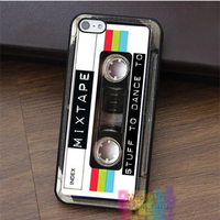 Mixed Tape Cassette Retro Old School Music Fashion Cell Phone Case For Iphone 4 4s 5