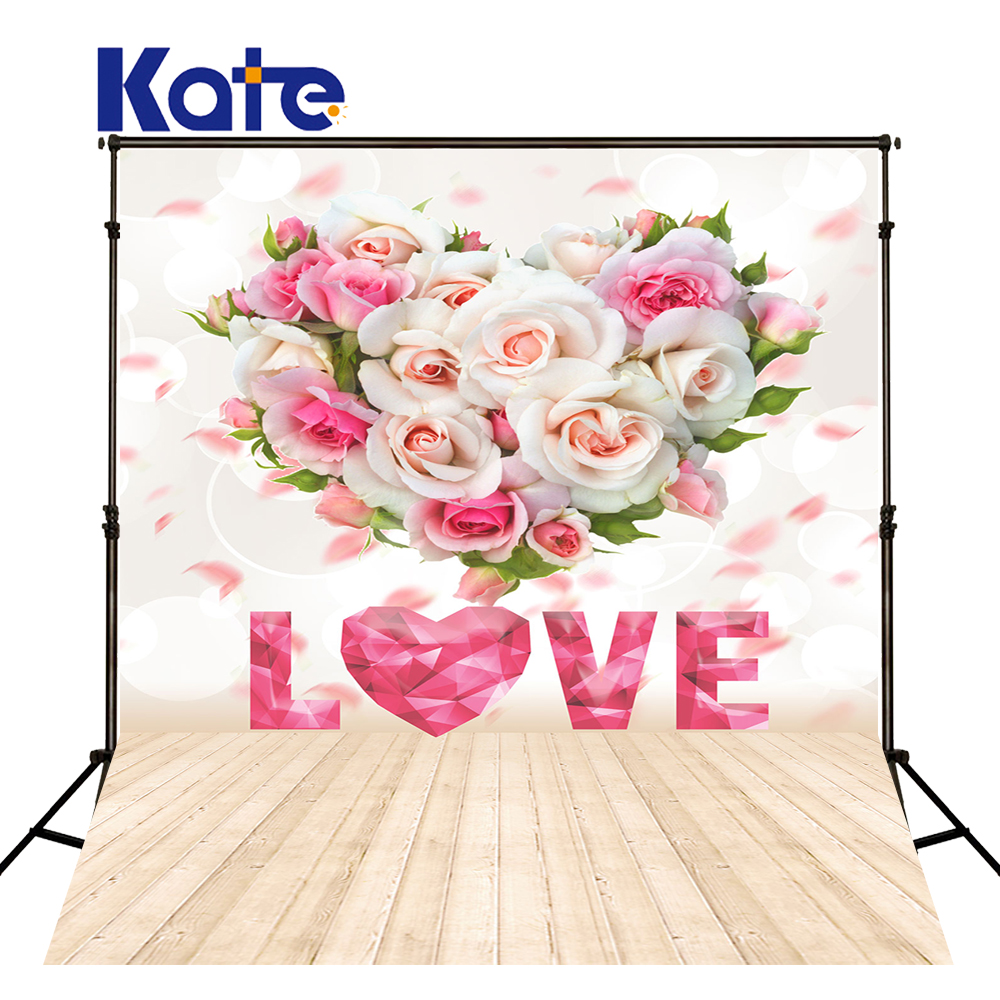 200x300cm Kate Pink And White Flowers Photography Backdrops Newborn